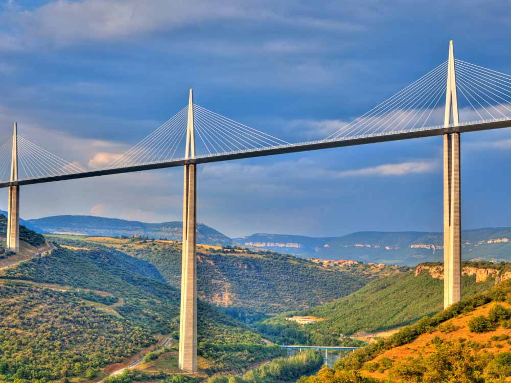 Millau Viaduct is one of the famous structures in France