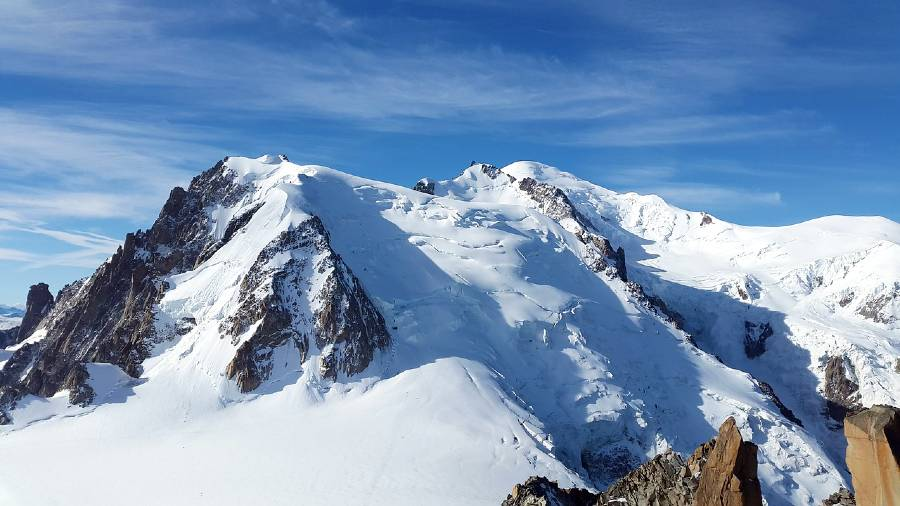 Mont Blanc is one of the top landmarks in France