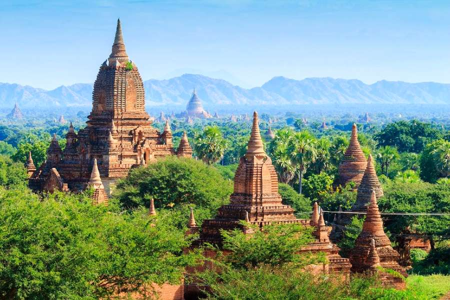 Bagan in Myanmar is one of the famous monuments in Asia