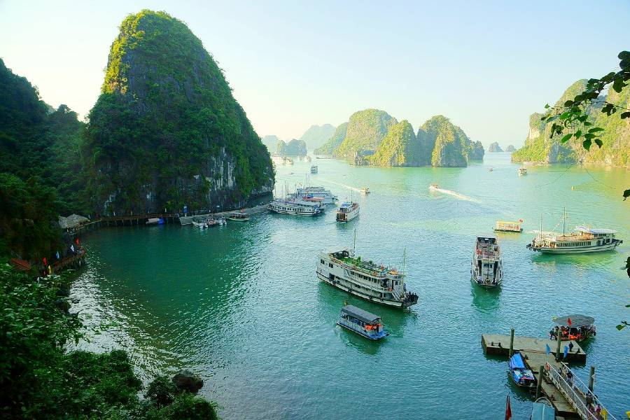 Ha Long Bay, Vietnam is one of the Asian famous landmarks