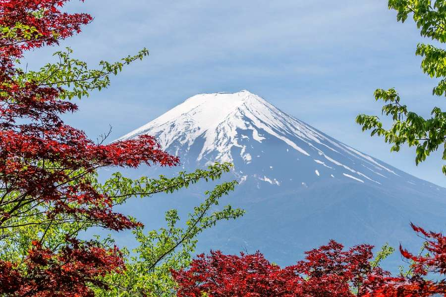 Mount Fuji in Japan is one of the natural landmarks of Asia