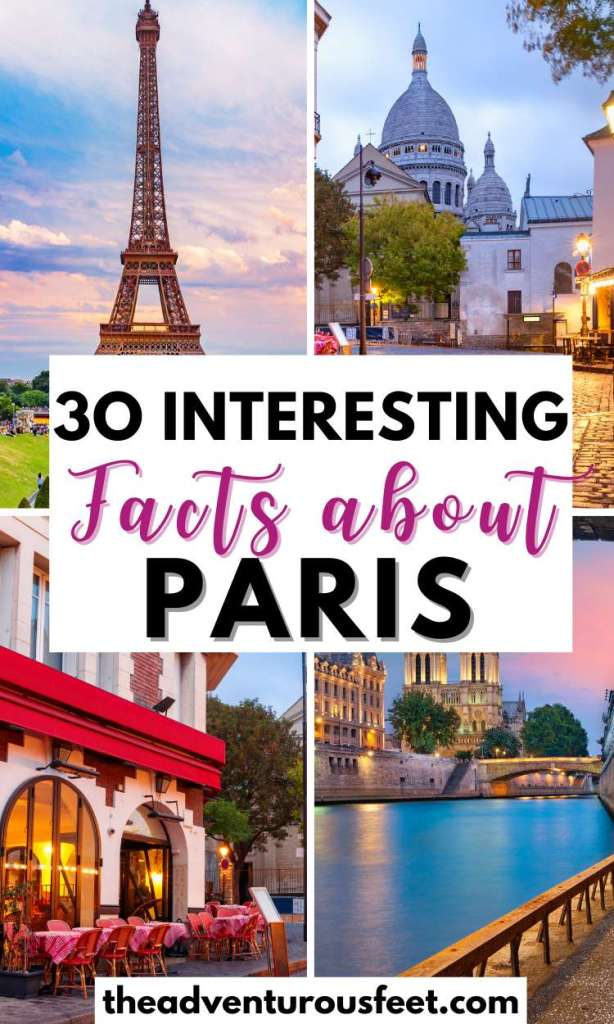 Do you want to learn more about the French capital? Here are the most interesting facts about Paris you probably didn't know.| fun facts about Paris| facts about Paris for kids|  amazing facts about Paris France| things to know about Paris| Paris facts for kids| Paris fun facts| Paris catacombs facts| Paris facts for tourists| Eiffel Tower interesting facts| Paris history facts
