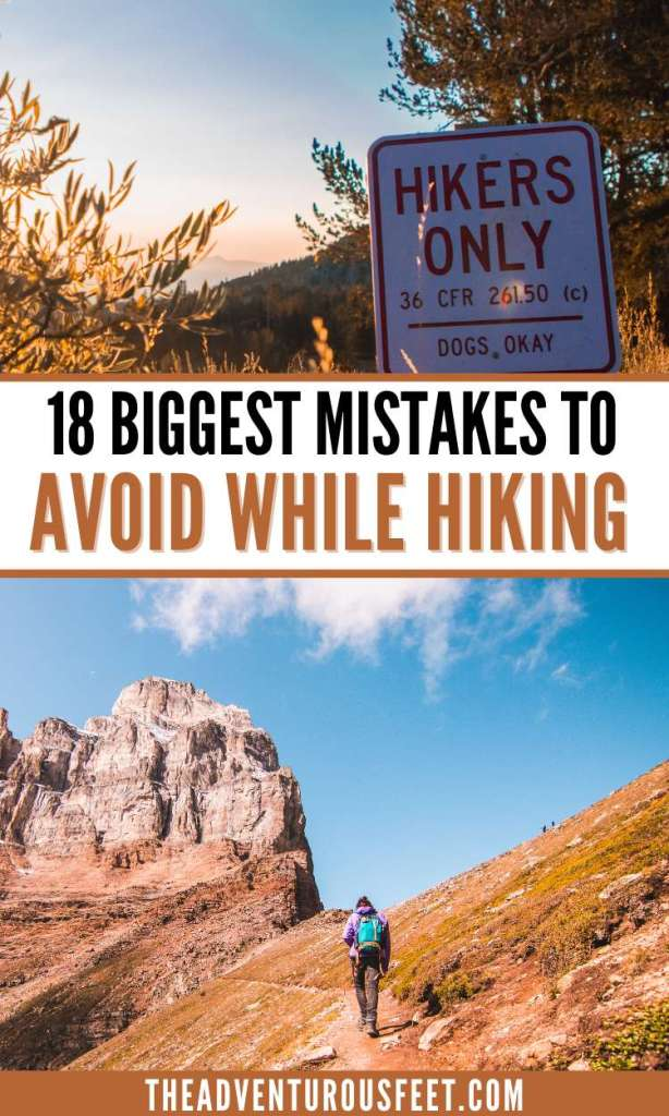 Are you going hiking for the first time? Here are the biggest hiking mistakes you should avoid.   mistakes to avoid while hiking  things not to do while hiking  what not to do while hiking  hiking for beginners  day hiking tips for beginners  beginners hiking tips  hiking tips for beginners  hiking hacks  hiking tips and tricks  big hiking mistakes to avoid