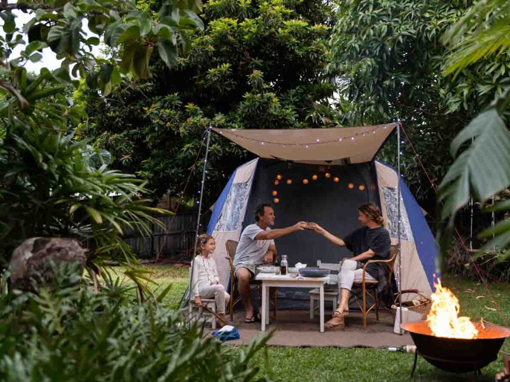 Camping in your Backyard is one of the ideas for summer bucket list