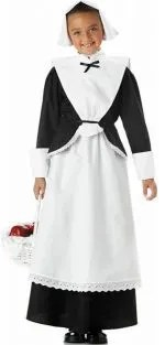 pilgrim girl thanksgiving costume