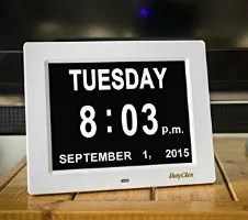 The Memory Loss Digital Calendar Day Clock is a gift that helps people with dementia remember what day it is. This is one of the biggest frustrations for ...
