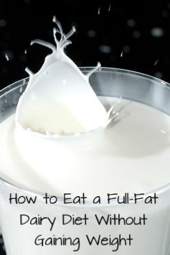 full fat dairy diet for fertility