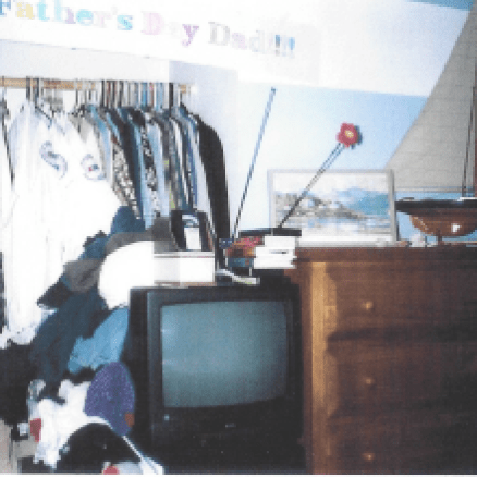 Master Closet with Clutter