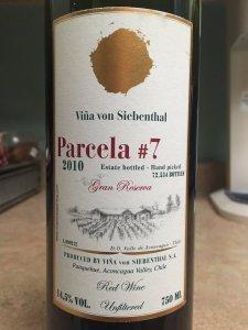 2010 Vina Von Siebenthal Parcela7