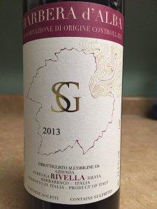 2013 Agricola Rivella Barbera