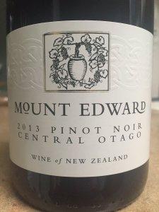 2013 Mount Edward Central Otago Pinot Noir