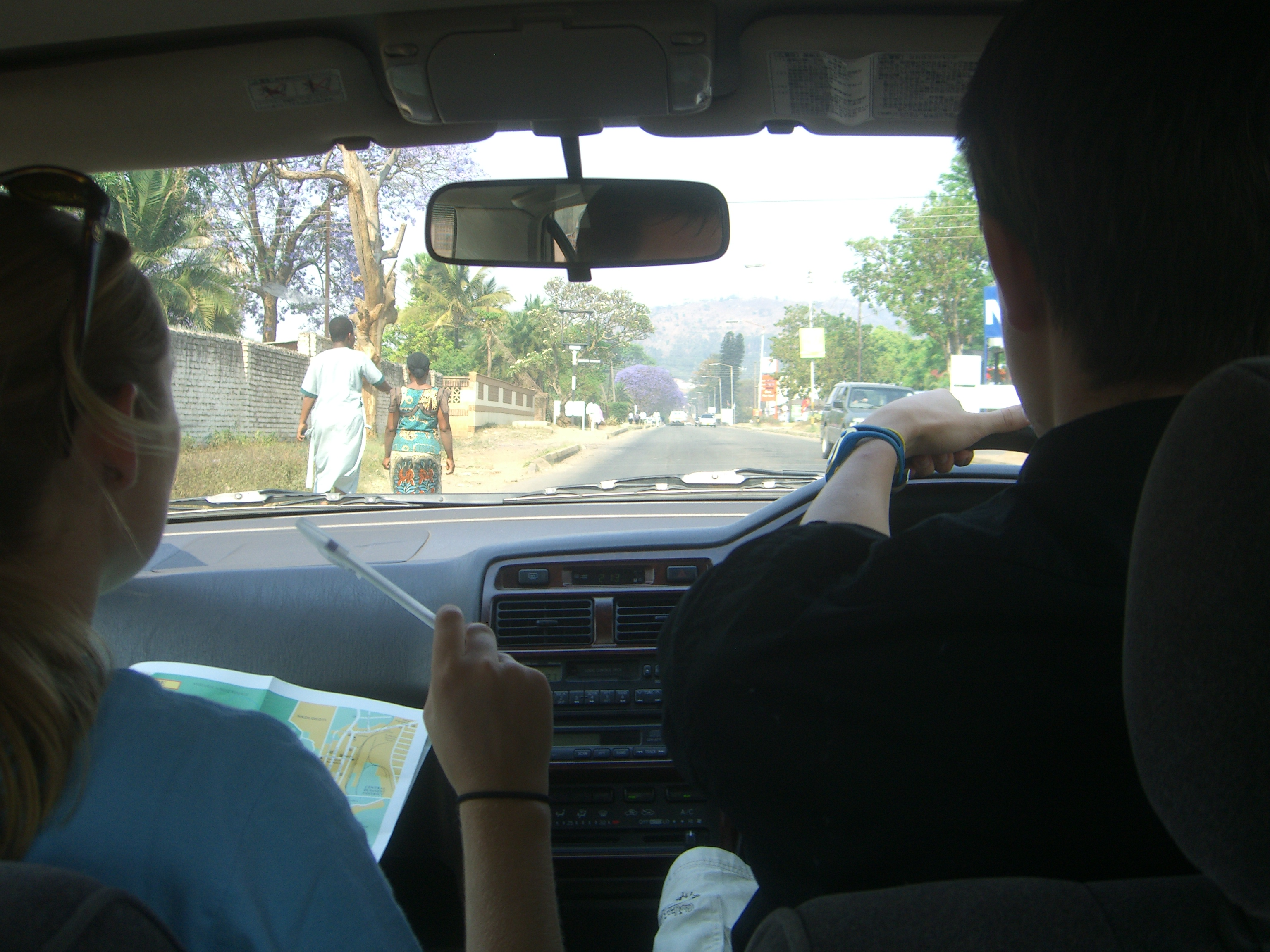 Driving out of Blantyre