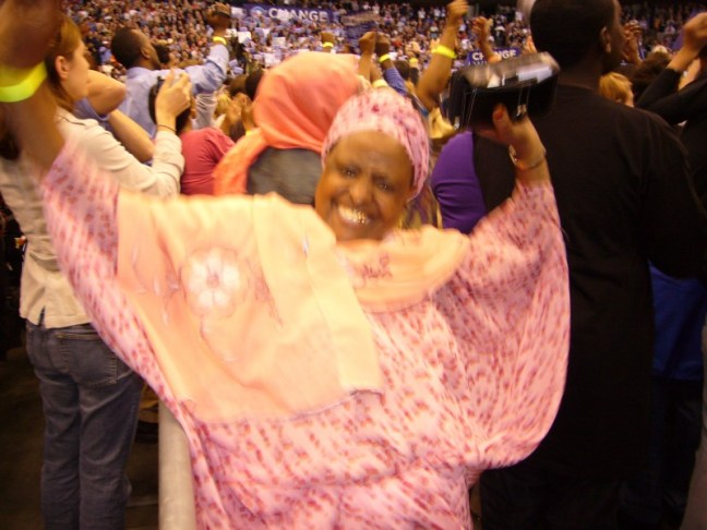 An Elder Somali Obama supporter in Minneapolis. Photo: (c) The AfricaPaper