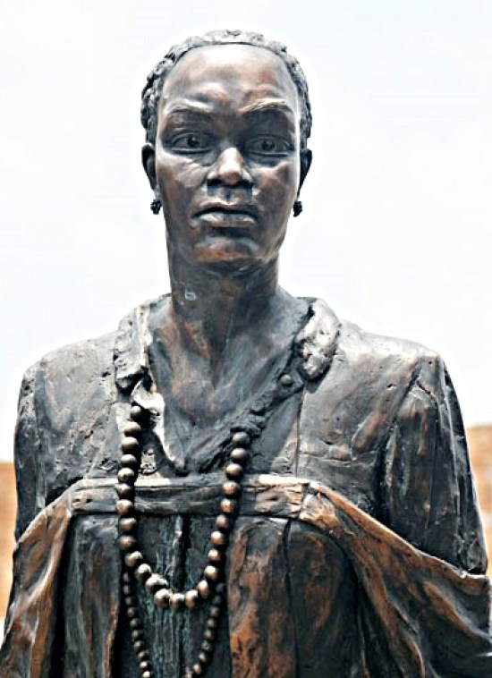 PHOTO: Statue of anti-apartheid activist Nokuthula Simelane, who was tortured and disappeared in 1983 by Security Police, in her home town of Bethal, South Africa. (South Africa House of Memory)