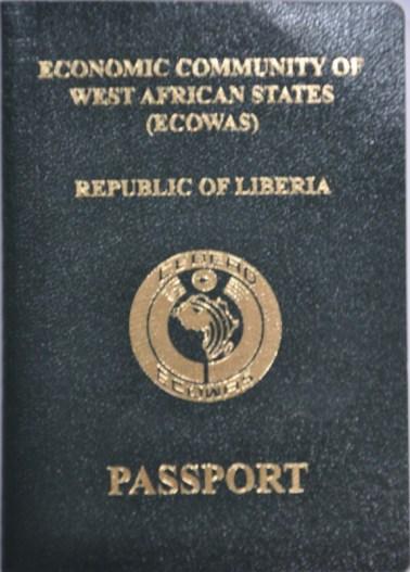 New Liberian biometric passport. Photo  James Fasuekoi