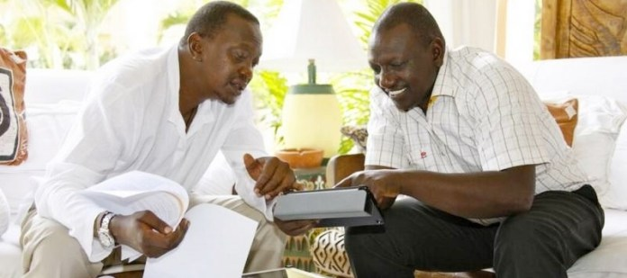 L-to-R President Kenyatta and Ruto