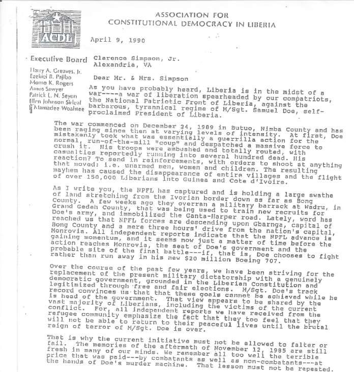 Part of ACDL document obtained by TAP