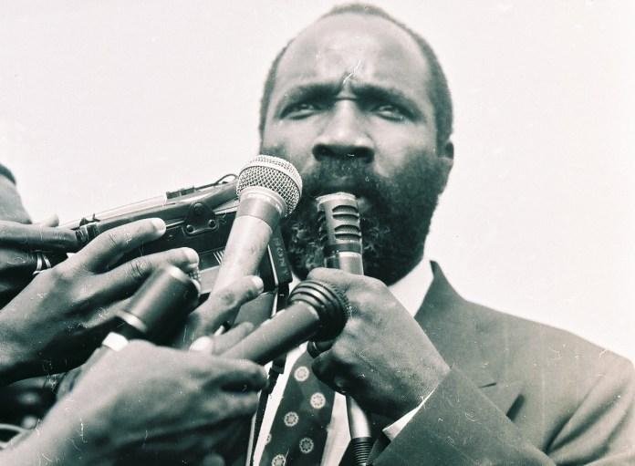 Jucontee Thomas Woewiyu as a NPFL Spokesman. Photo (c) The AfricaPaper/James K. Fasuekoi