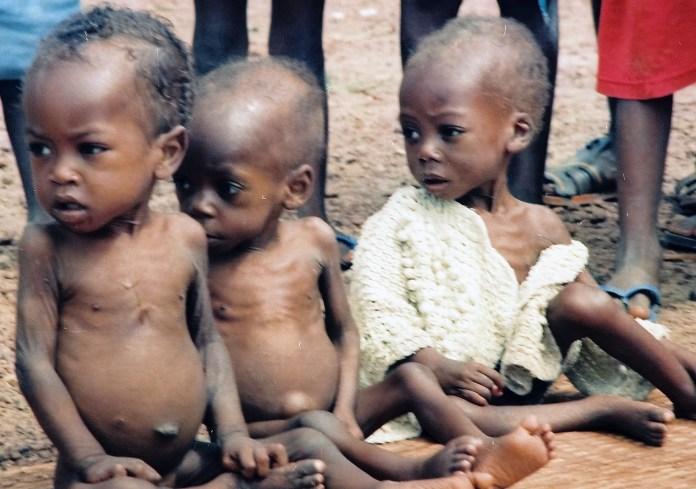 Staving children during the war. Woewiyu as NPFL spokesman says it never happened. Photo: James K. Fasuekoi/The AfricaPaper