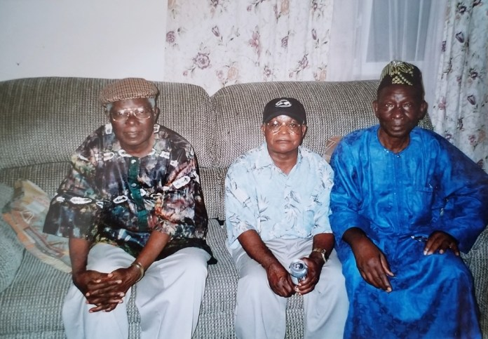 Alfred Kabba Bangura, Pastor Komboh, and Alhaji Yayah Kabba. Photo: Family/The AfricaPaper
