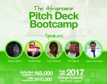 The Afropreneur holds her first Pitchdeck Workshop for 2017