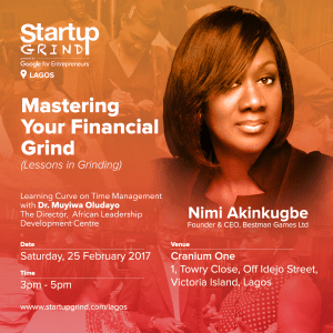 Startup Grind - Lagos Chapter (February 2017) Poster