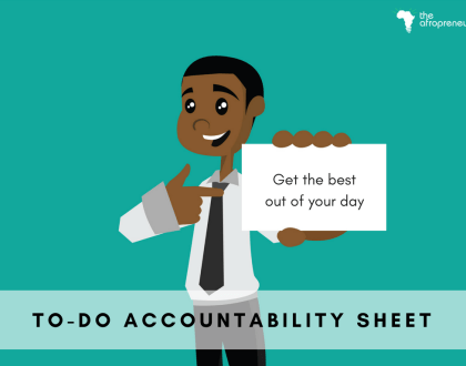 To-Do Accountability sheet