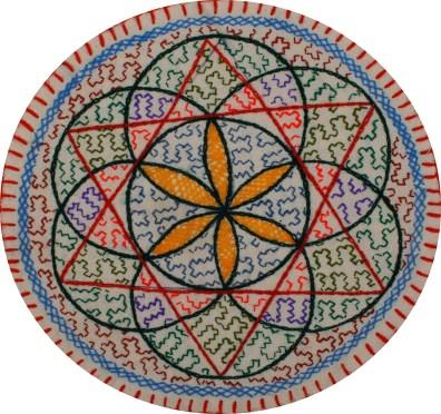 Shipibo Woman Hand-Woven Tapestry & Altar Piece
