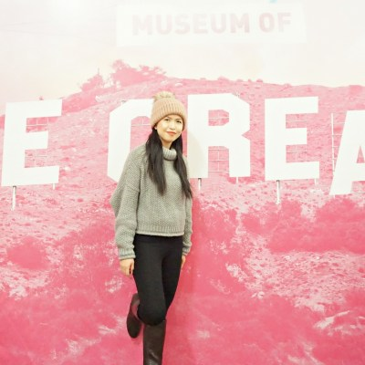 Fun and Pink Day in the Museum of Ice Cream LA
