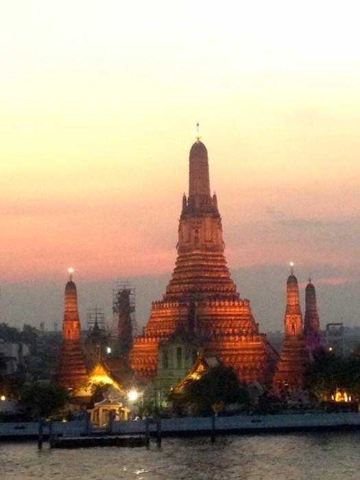 Wat Arun, Sunset