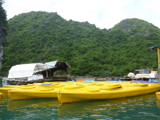 Kayaking Ha Long Bay, Cat Ba Town, Vietnam
