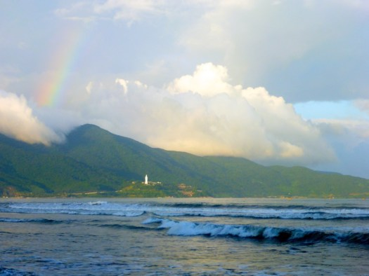 God's Perfect Timing - Ranbow on the beach Danang, Vietnam