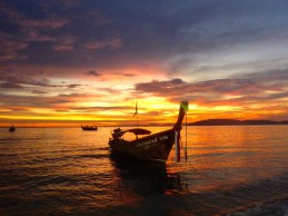 Sunset Ao Nang Beach, Krabi,, Thailand