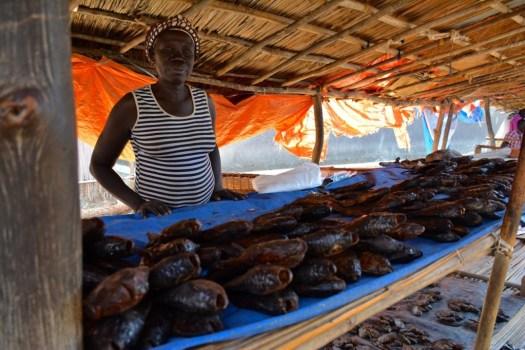South Sudan - Fish sales