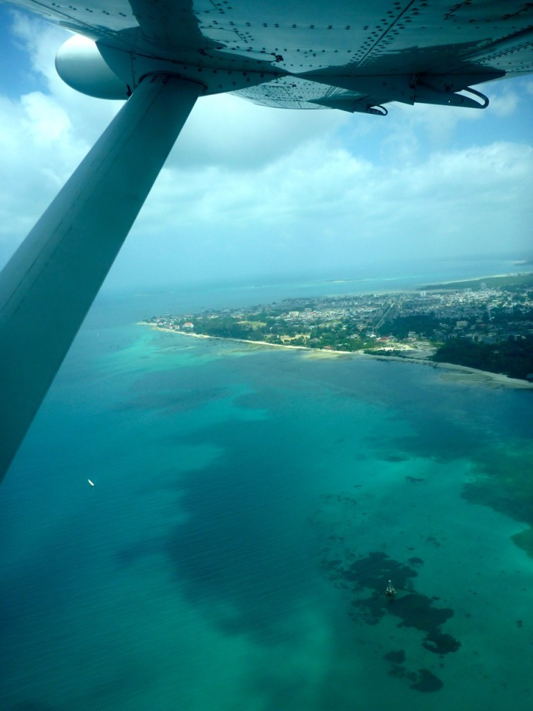 Flying into Zanzibar