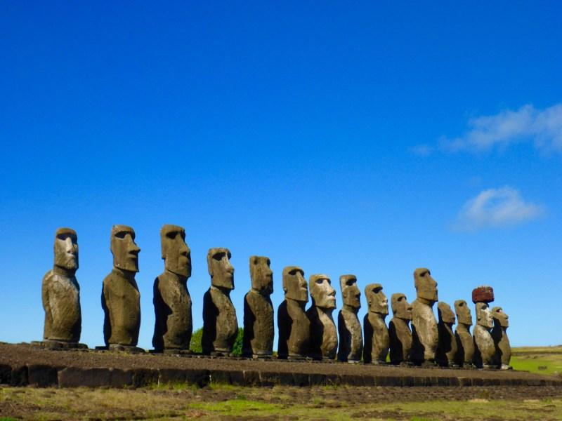 Rapa Nui Moai on Easter Island