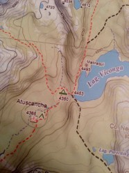 Problems with Our map for trekking Huayhuash independently