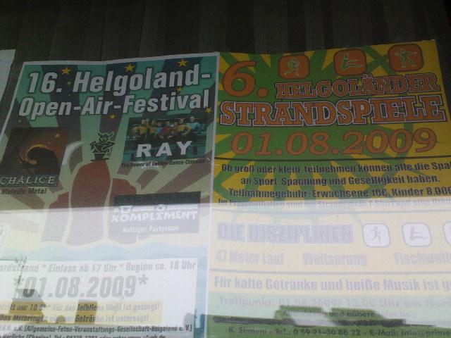 Helgoland Open Air Festival 1. August 2009, Düne Helgoland