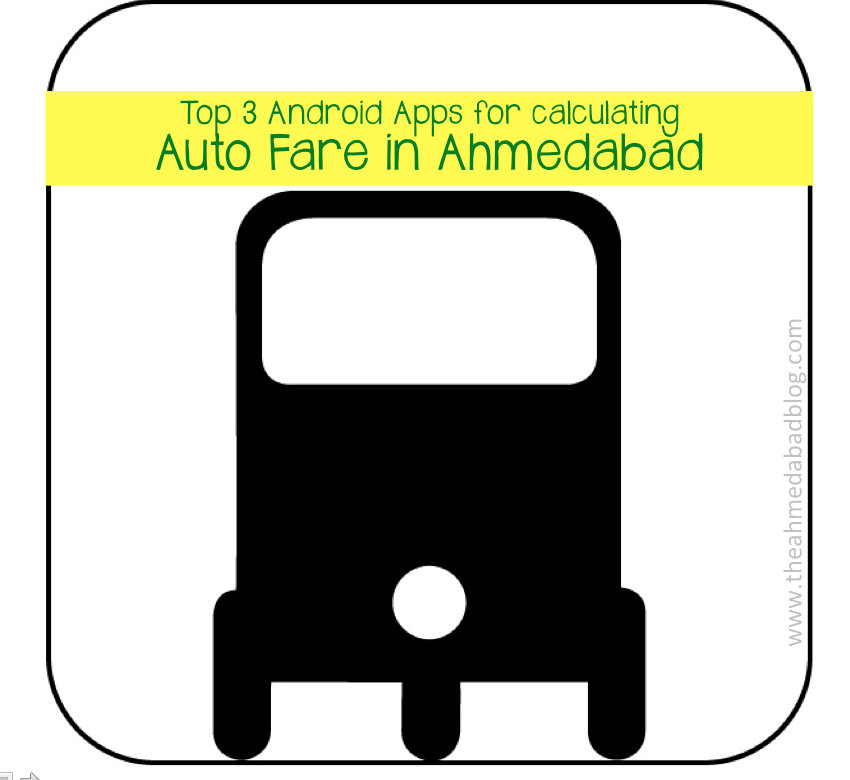 Top 3 android apps to calculate Auto Fare in Ahmedabad