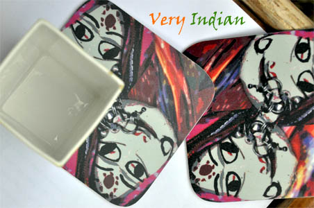 Very Indian | Coasters made from graphically modified photographs
