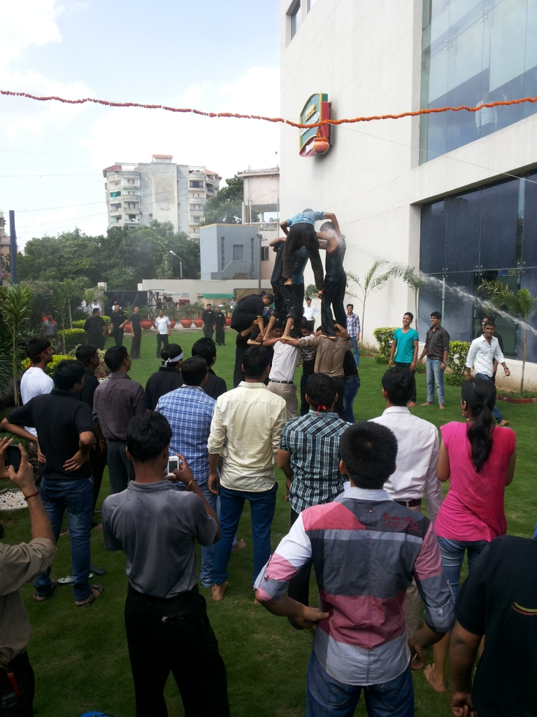 Marriott Ahmedabad celebrates Janmashtami with 'Dahi Handi', where associates are participating with lots of enthusiasm and spirit