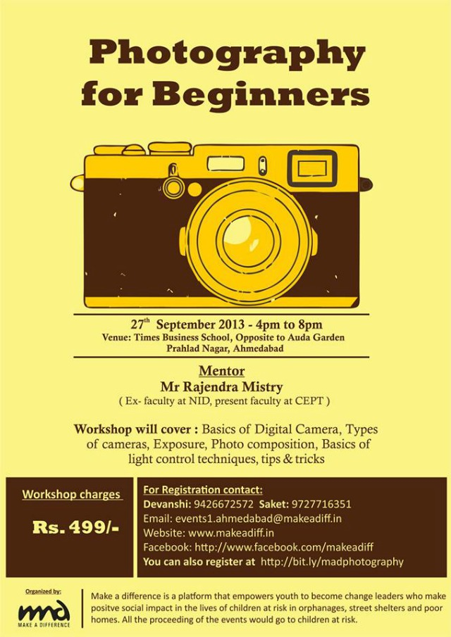 MAD photography for beginners in Ahmedabad