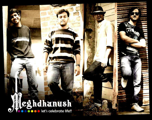 Photo Courtesy Official Facebook Page Of Meghdhanush | Meghdhanush Band Members (L to R): Jigar Gadhavi, Jainam Modi, Dhaivat Jani and Karan Patel