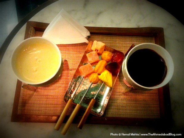 Chocolate Fondue at Hyatt Ahmedabad