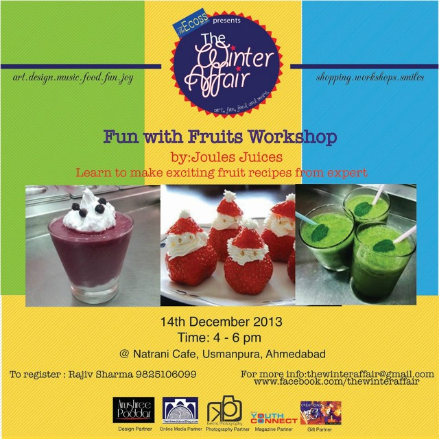 Fun with Fruits Workshop by Joules Juices
