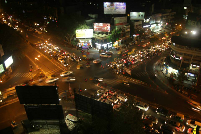 A major improvement is observed in the queue behavior and lane discipline at Vijay Cross Roads