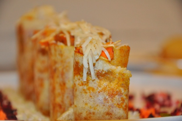So South Ahmedabad: Dosa cylinders filled with exotic veggies, Mexican spices and sauces