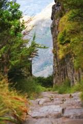 our hike down Platteklip Gorge