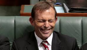 Tony Abbott looking . . . stupid (image by ozpolotic.com)