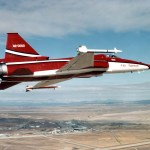 The first F-20 decked out in Northrop's colors. (U.S. Air Force photo)